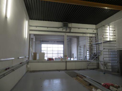 Um- und Zubau eines Bürogebäudes und Gewerbehalle in Baden