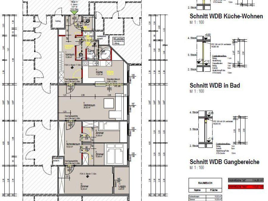 Bauanzeige gemäß §62 der Bauordnung für Wien